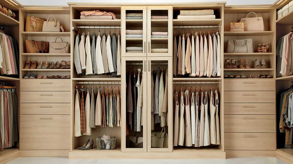TCS Closets in Satin Oak