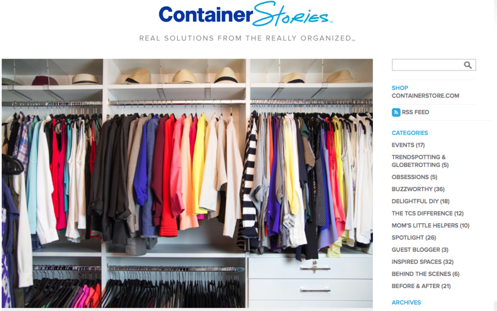 "Featured in September of 2016 on The Container Store blog  Inspired Spaces  segment as an organizational expert traveling to Charleston, SC to create  the Master Closet of Piper & Matt's dreams.   ""The couple found a charming, renovated 1960s ranch house with space to start a family, and a beautiful backyard that backs up to the Kushiwah Creek and feeds into the Charleston harbor. Piper and Matt are both busy attorneys, and enlisted the help of our Atlanta-based Contained Home organizer, Claudia Morris-Barclay to help them assess the master closet and maximize the space.  Read more..."