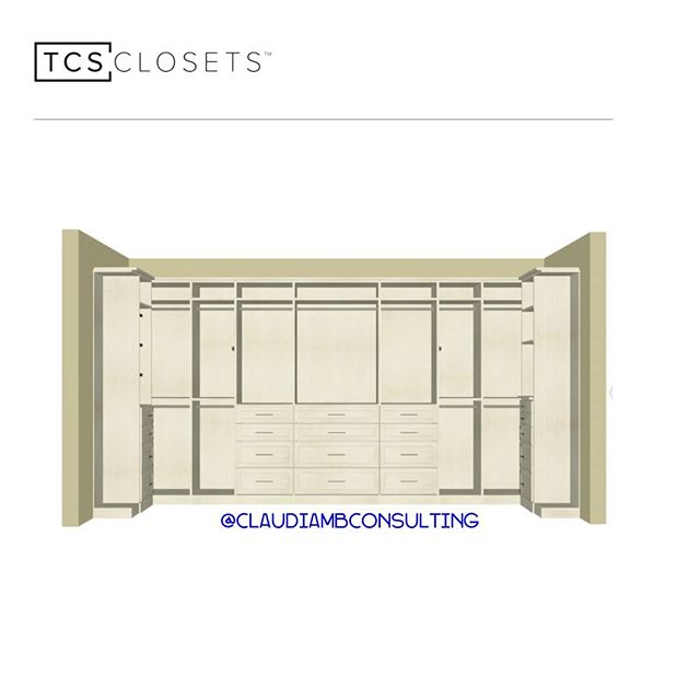 Work in progress 😁 #closetgoals #MondayMotivation . . . #ClaudiaMBConsulting #EntertainmentandLifestyleConsultant #ContainedHomeOrganizer #Luxuryclosetdesign #SpaceDesigner #currentdesignsituation #TCSClosets #MasterCloset