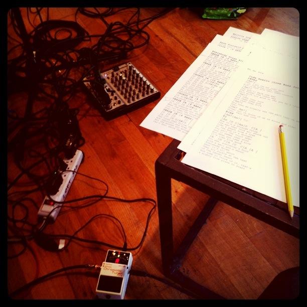 Rehearsing for Son of a Gun - NYC guitarist Cameron Mizell