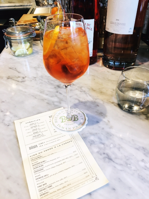 Aperol Spritz at Bread & Butterfly