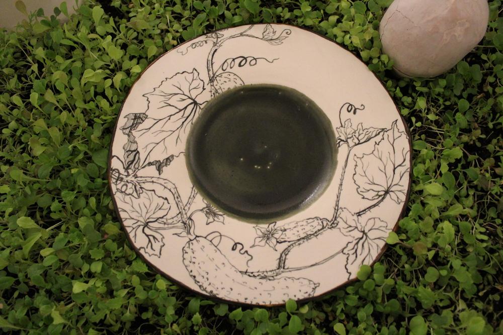 Pickling Cucumber Plate
