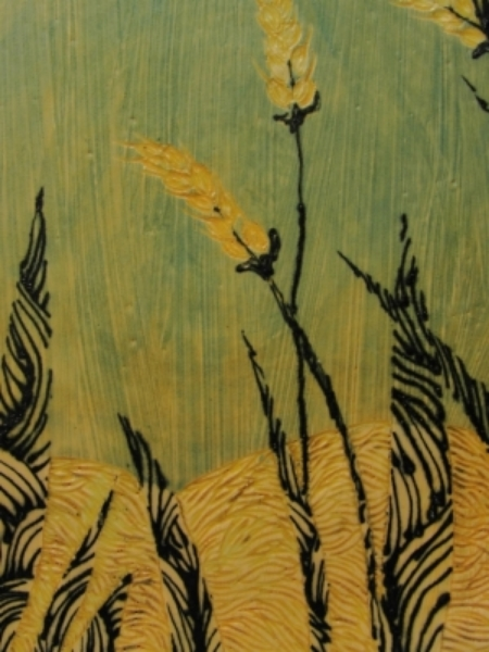 Wheat Field Plate, detail