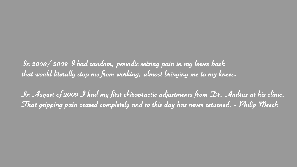 Andrus Chiropractic Group Patient Testimonial