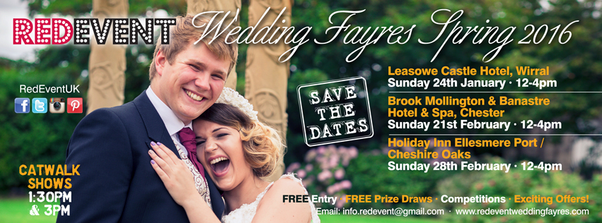 Red Event Spring 2016 Wedding Fayres Dates!