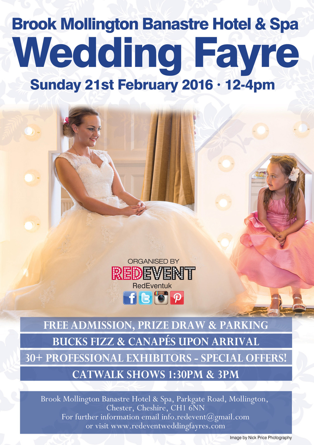 Brook Mollington Banastre Hotel & Spa Wedding Fayre