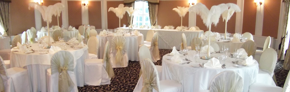 Upper Turret Suite dressed for a Wedding