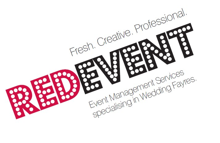 Red Event Business Card front