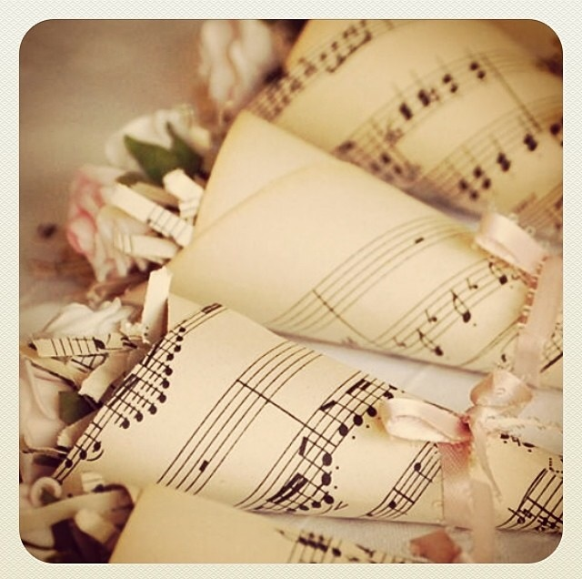 Music themed wedding favours
