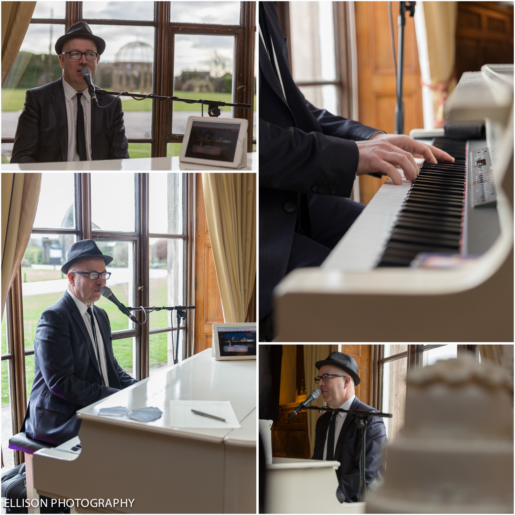 Red Event Leasowe Castle Spring Wedding Fayre Wirral Sunday 19th January 2014 Simon singing Piano Man FB