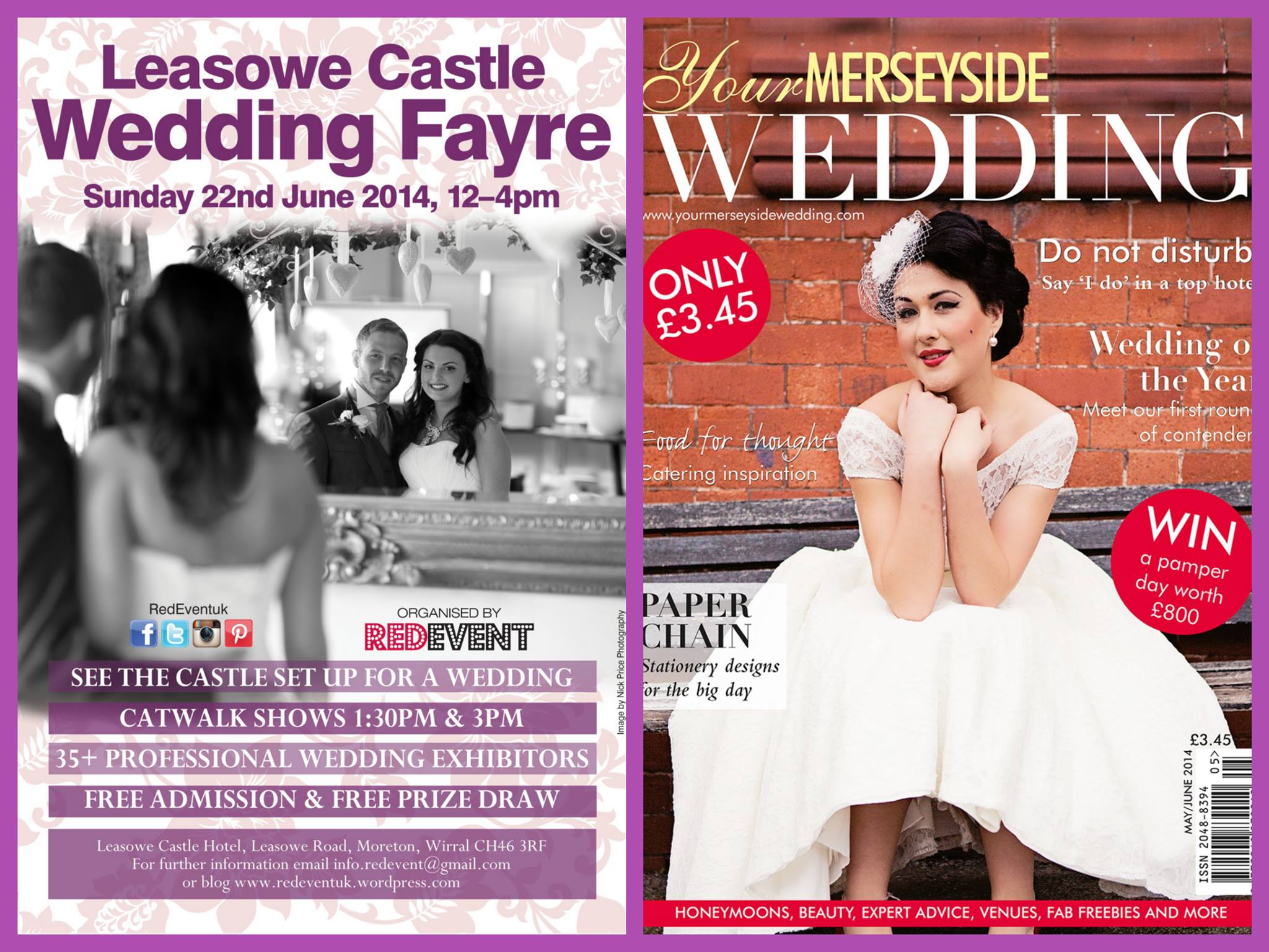 Your Merseyside Wedding Magazine LCWFJune Free Copy at Leasowe Castle Wedding Fayre 2014