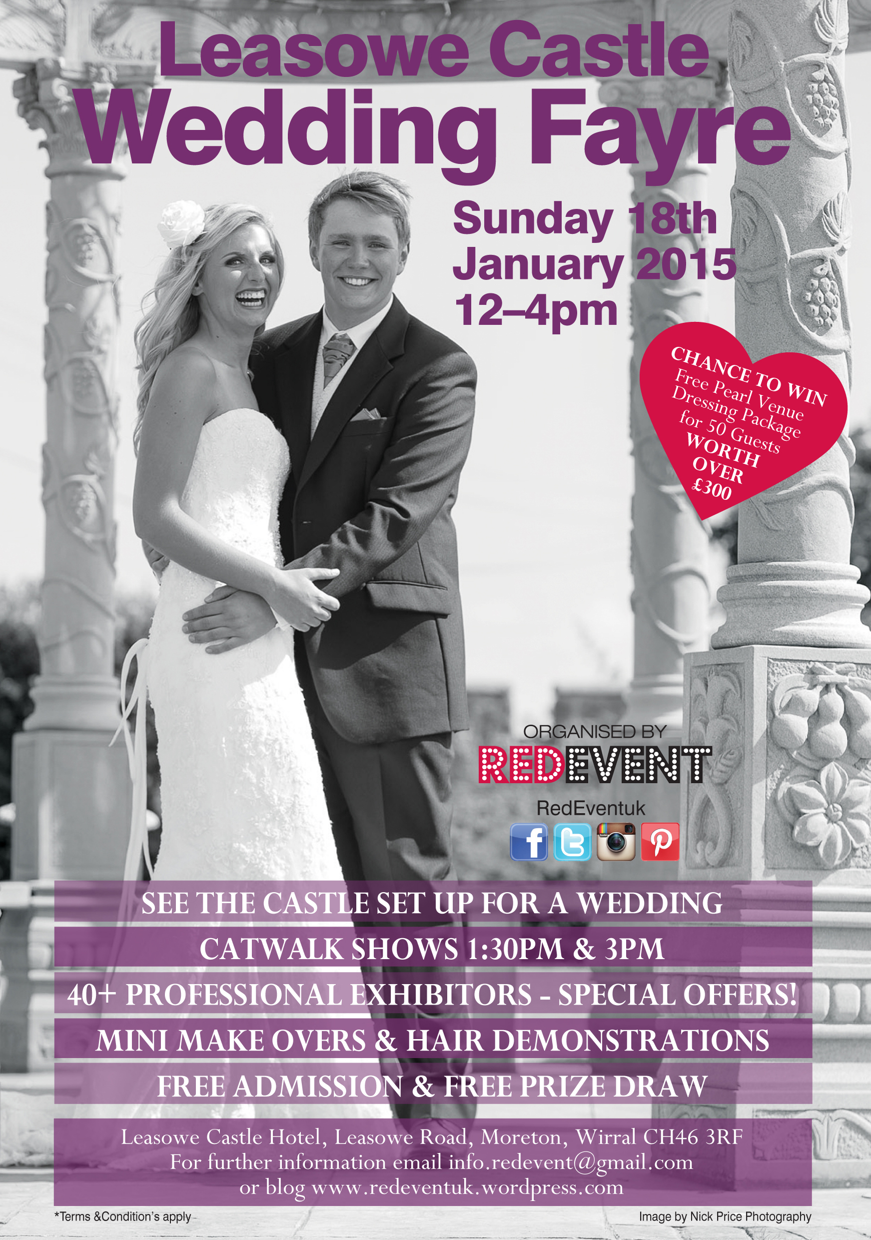 Our next wedding fayre flyer