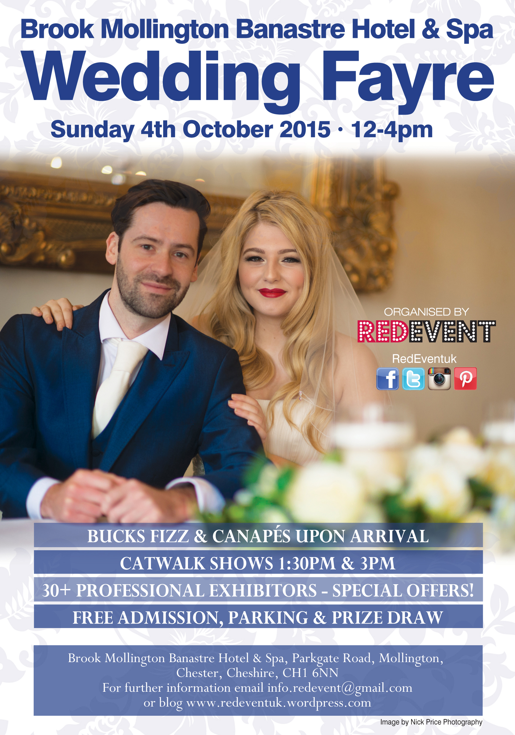 The Red Event Brook Mollington Banastre Hotel & Spa Wedding Fayre Merseyside Chester October 2015