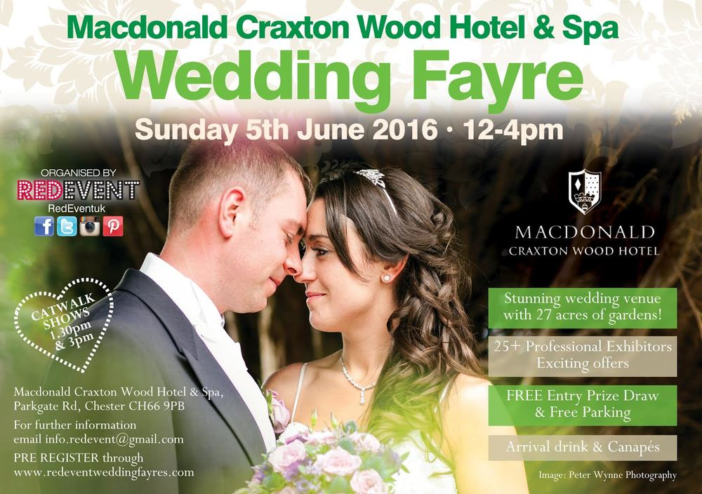 Macdonald Craxton Wood Red Event Hotel & Spa Wedding Fayre
