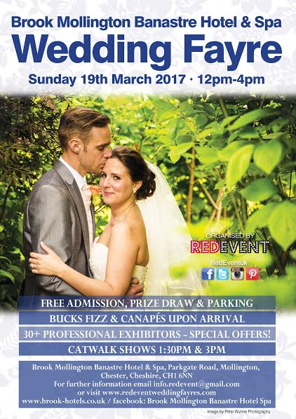 Brook Mollington Banastre Hotel & Spa Wedding Fayre Flyer