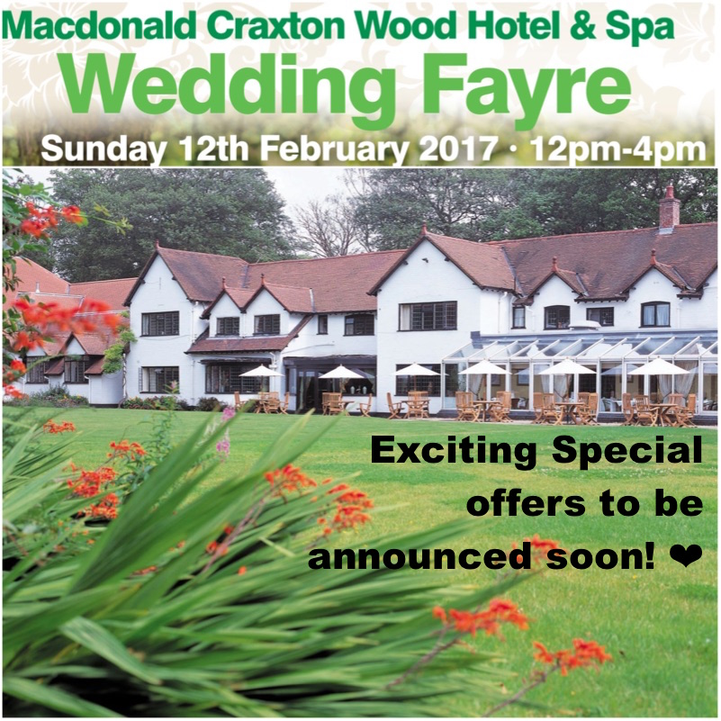 Special Offers Macdonald Craxton Wood Wedding Fayre www.redeventweddingfayres.com