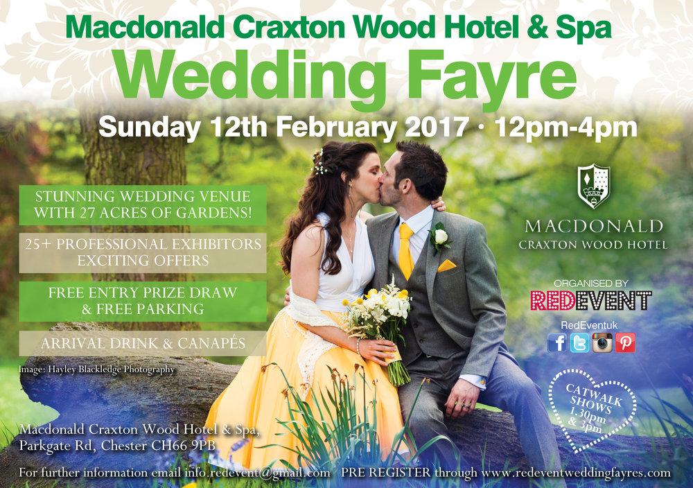 Macdonald Craxton Wood Wedding Fayre Chester Red Event Wedding Fair