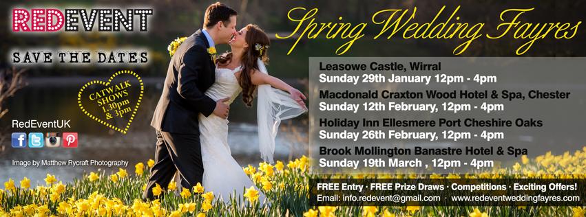 Spring Wedding Fayre Flyer Red Event North West Wedding Fayres!