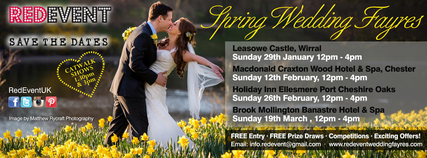 Red Event Spring Wedding Fayre dates North West Wedding Fayres