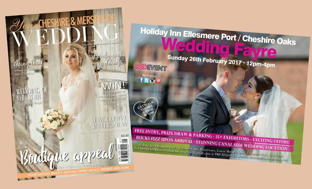 come along to the red event north west wedding fayre on sunday 26th february and and pick up your free wedding magazine from your cheshire merseyside