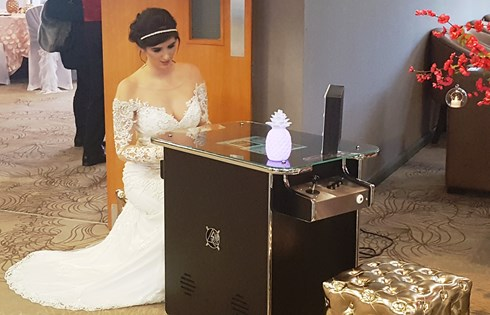 Glamour Booth Special Offer for Macdonald Craxton Wood Wedding Fayre Chester, Cheshire Wedding Fair, Merseyside Wedding Fayre, Wirral Wedding Fair Red Event Fair PacMan.jpg