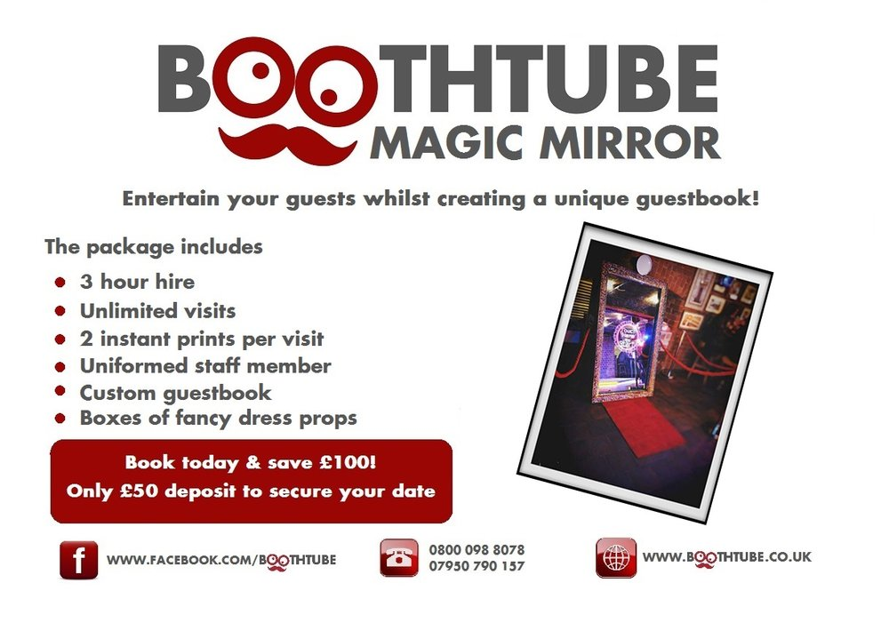 Boothtube special offer for Formby Hall Wedding Fayre Liverpool Wedding Fair Merseyside Weddings www.redeventweddingfayres.com.jpg
