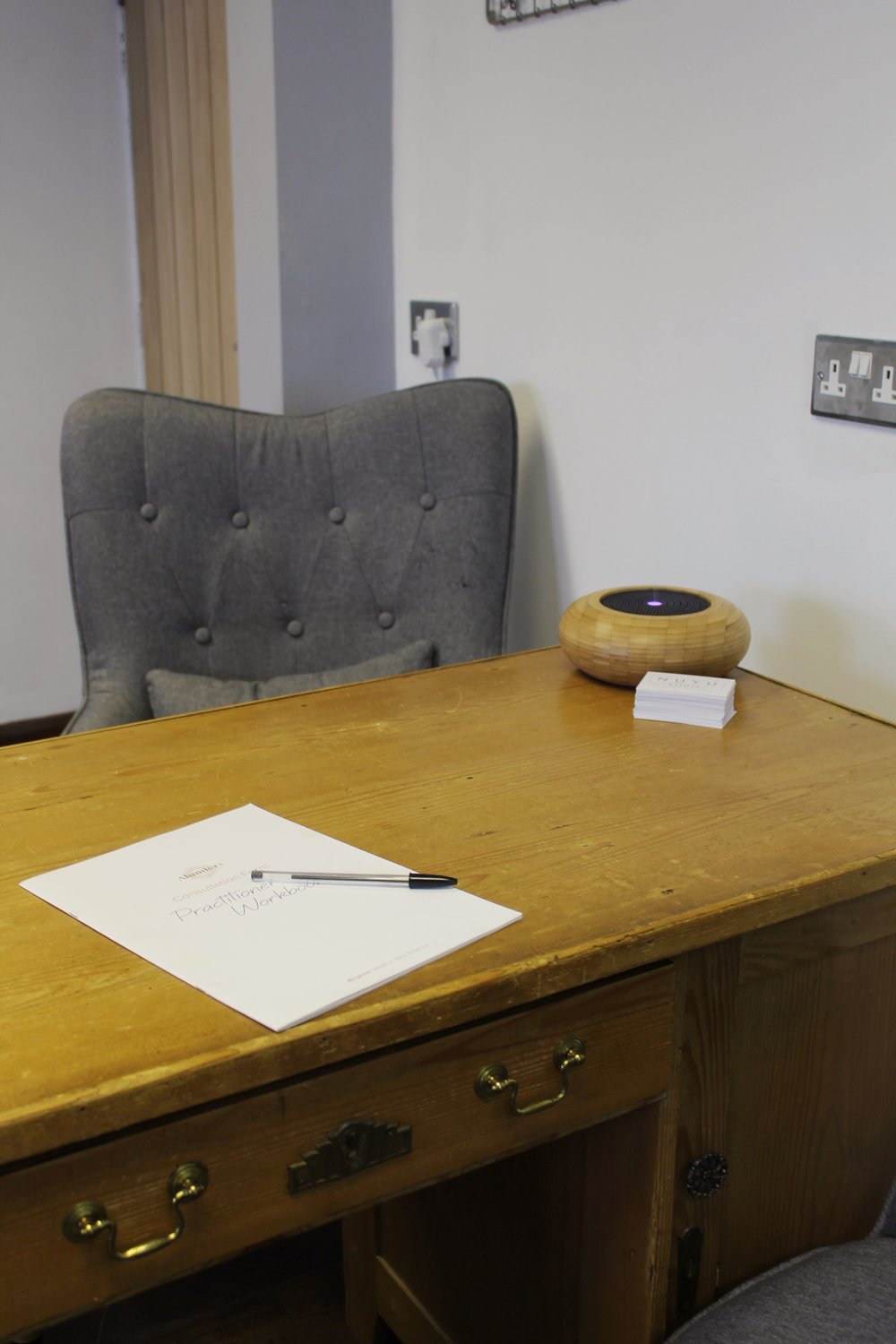consultation area – vitally important to allow you and your practitioner to have the same goals!