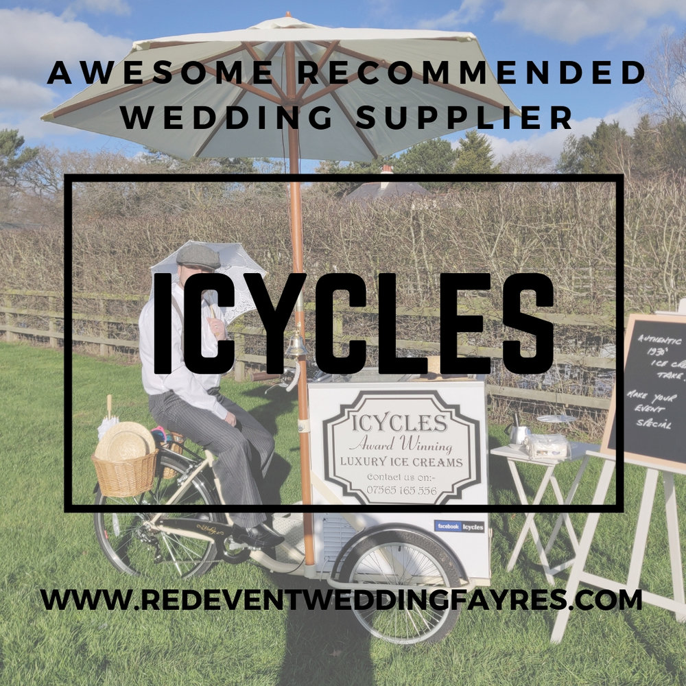 Icycles Awesome Recommended Suppliers www.redeventweddingfayres.com.jpg