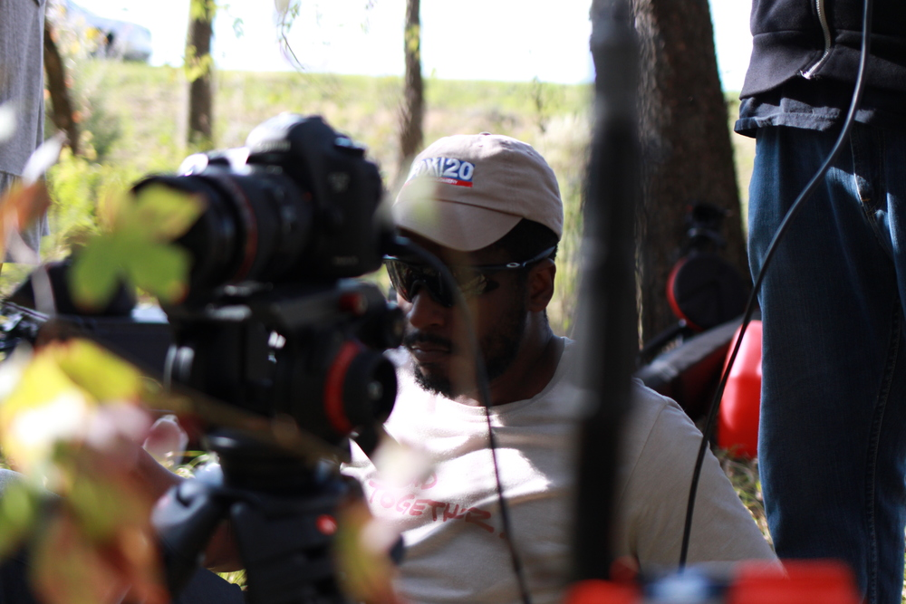 Ryan Torregano coordinating the shot for a recent short film production.