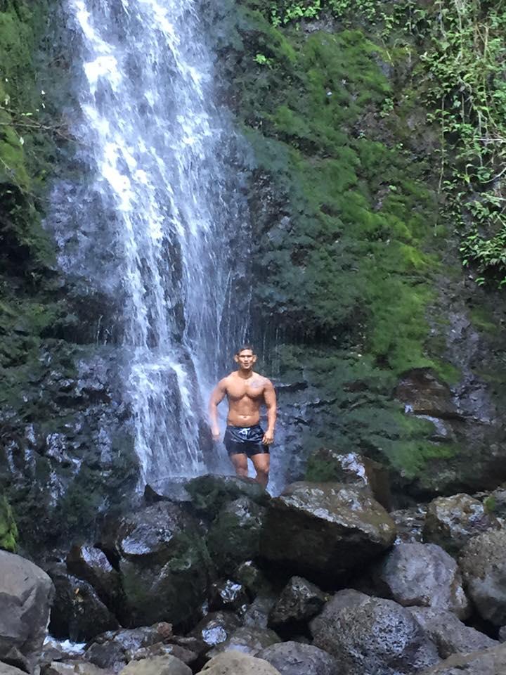 Bryant at Lulumahu Falls
