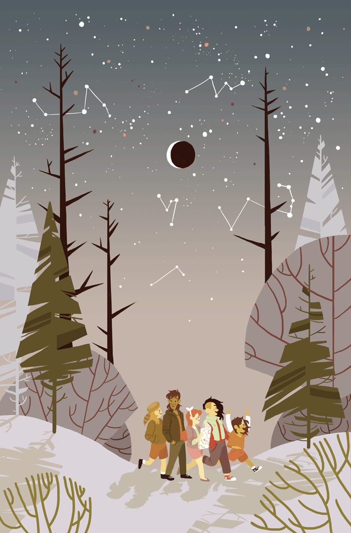 Cover for issue #21 of Lumberjanes.