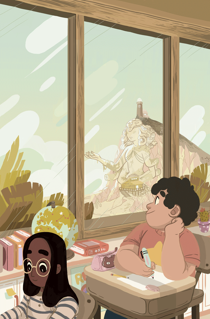 Cover for the Steven Universe OGN put out by BOOM! Studios.