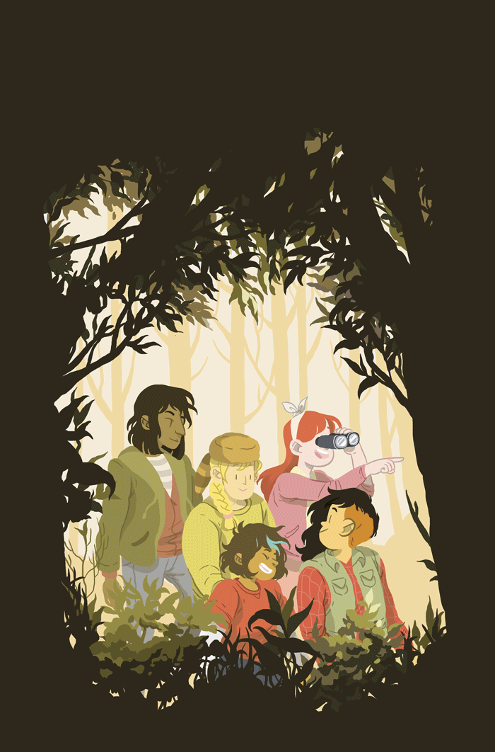 Cover for issue #22 of Lumberjanes.