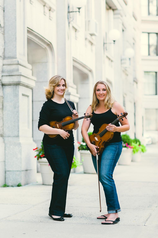 Kimberly Musial (viola) and Stephanie Merten (violin)