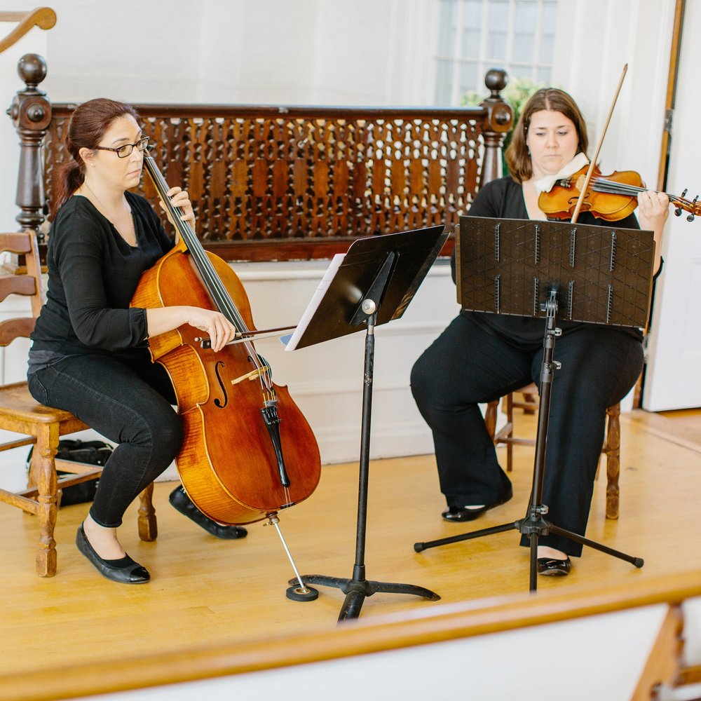 Classical Duet - Have professional musicians perform for your wedding ceremony and/or cocktail hour. Options include: Two Violins, Violin & Viola, or Violin & Cello. The duet performs classical music only. See our duet repertoire list.