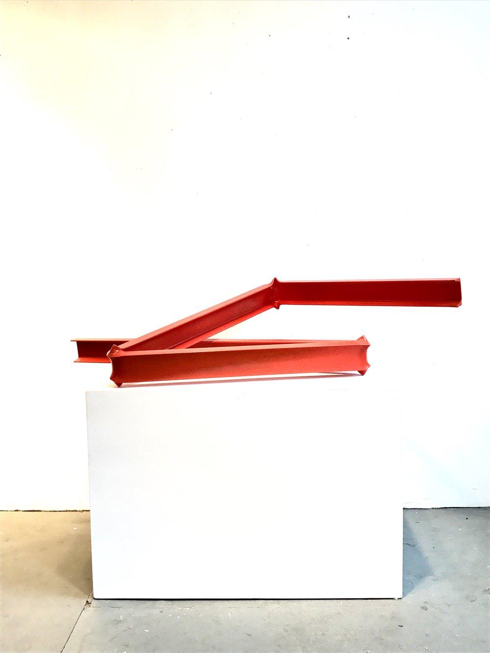 Powder coated bent steel. 4' x 2' x 1' $2500