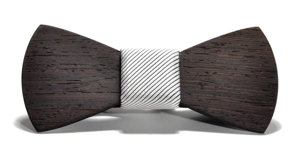 The Apollo Wenge Traditional Silk Wooden Bow Tie