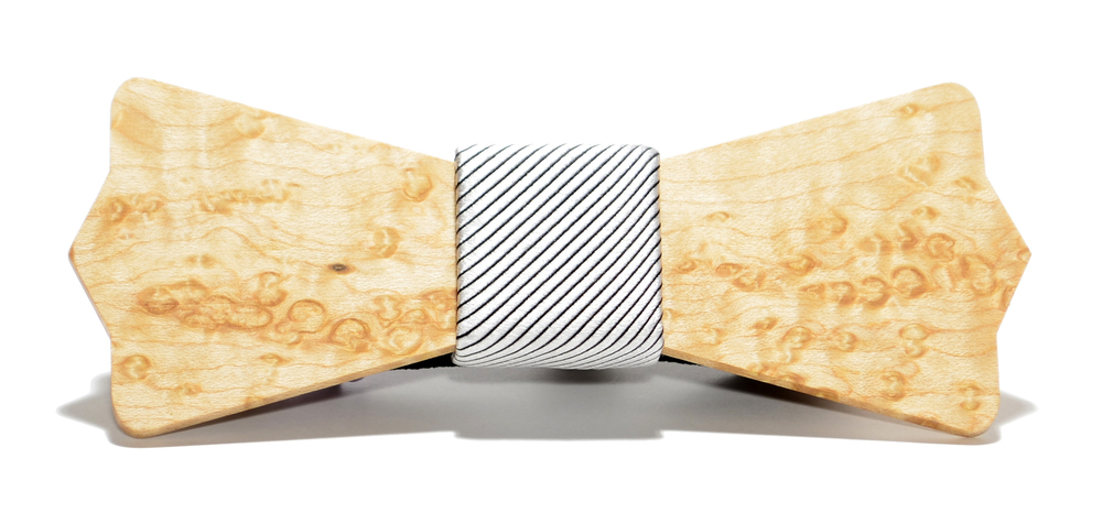 The Apollo Birdseye Maple Diamond Point Wooden Bow Tie