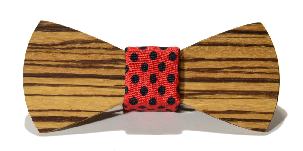 The Monroe Zebrawood Traditional Silk Wooden Bow Tie