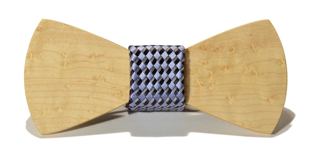 The Phantom Birdseye Maple Traditional Silk Wooden Bow Tie