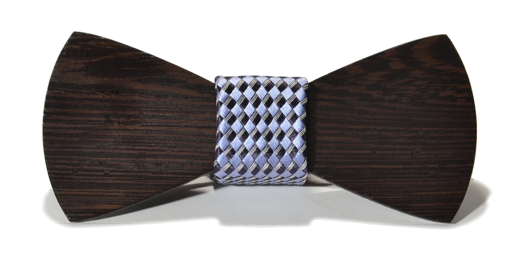The Phantom Wenge Traditional Silk Wooden Bow Tie