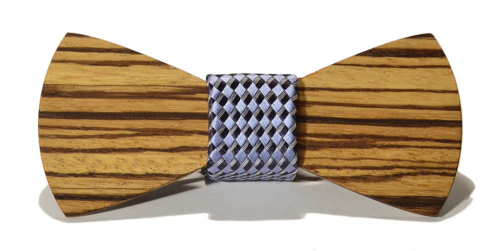 The Phantom Zebrawood Traditional Silk Wooden Bow Tie