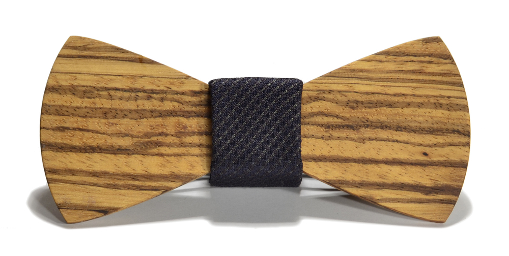 The Sinatra Zebrawood Traditional Silk Wooden Bow Tie