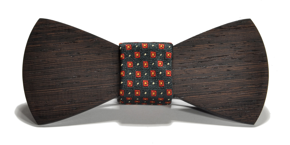 The Henry Wenge Traditional Silk Wooden Bow Tie
