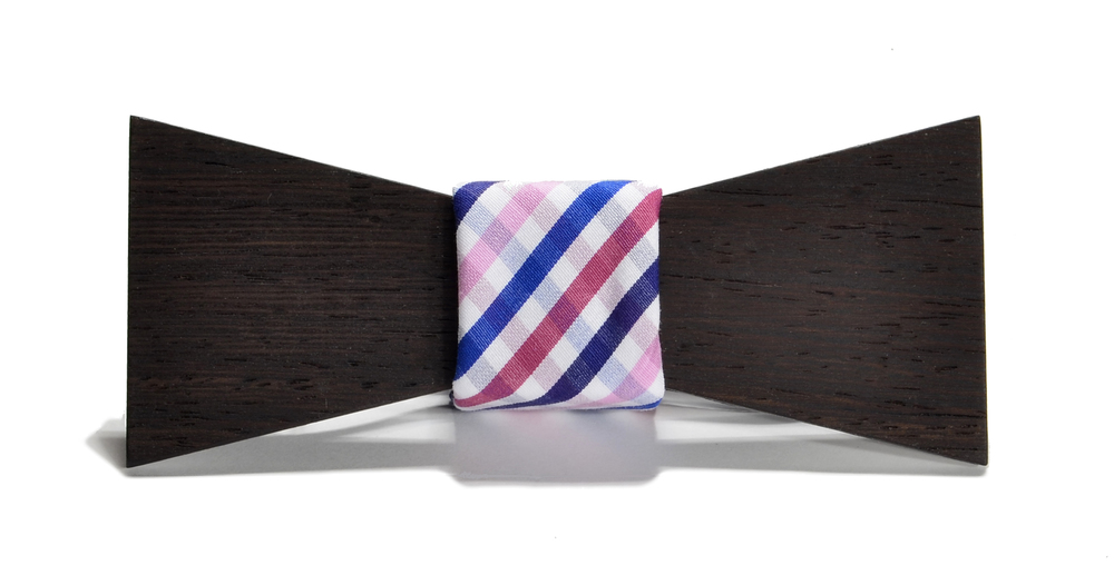 The Bordeaux Wenge Shorty Cotton Wooden Bow Tie