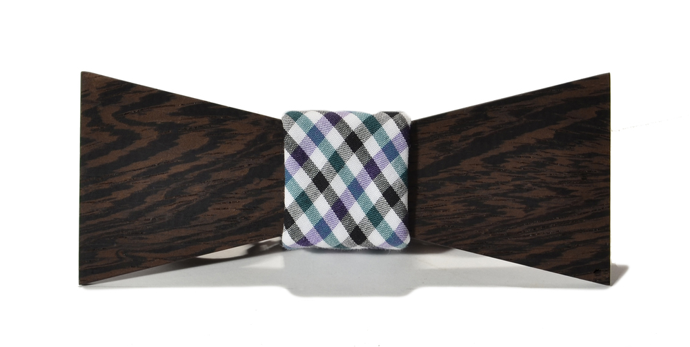 The Felling Wenge Shorty Cotton Wooden Bow Tie