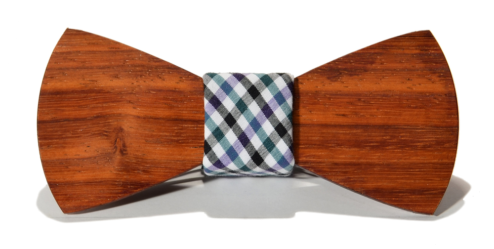 The Felling Padauk Traditonal Cotton Wooden Bow Tie