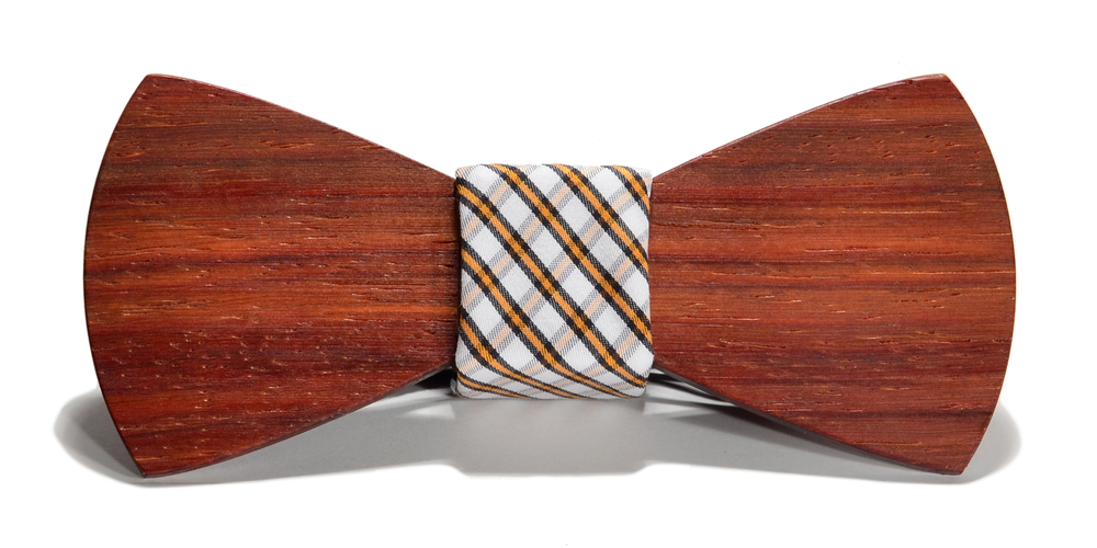 The Huntsman Padauk Traditional Cotton Wooden Bow Tie