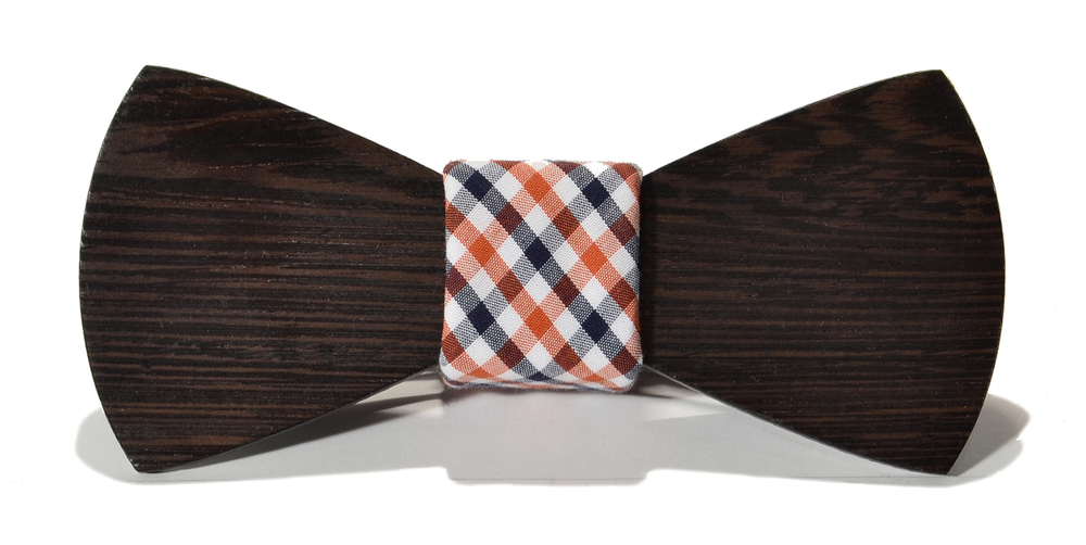 The Clark Wenge Traditional Cotton Wooden Bow Tie
