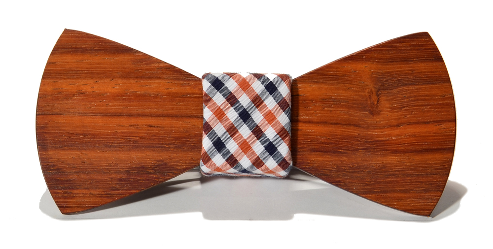 The Clark Padauk Traditional Cotton Wooden Bow Tie
